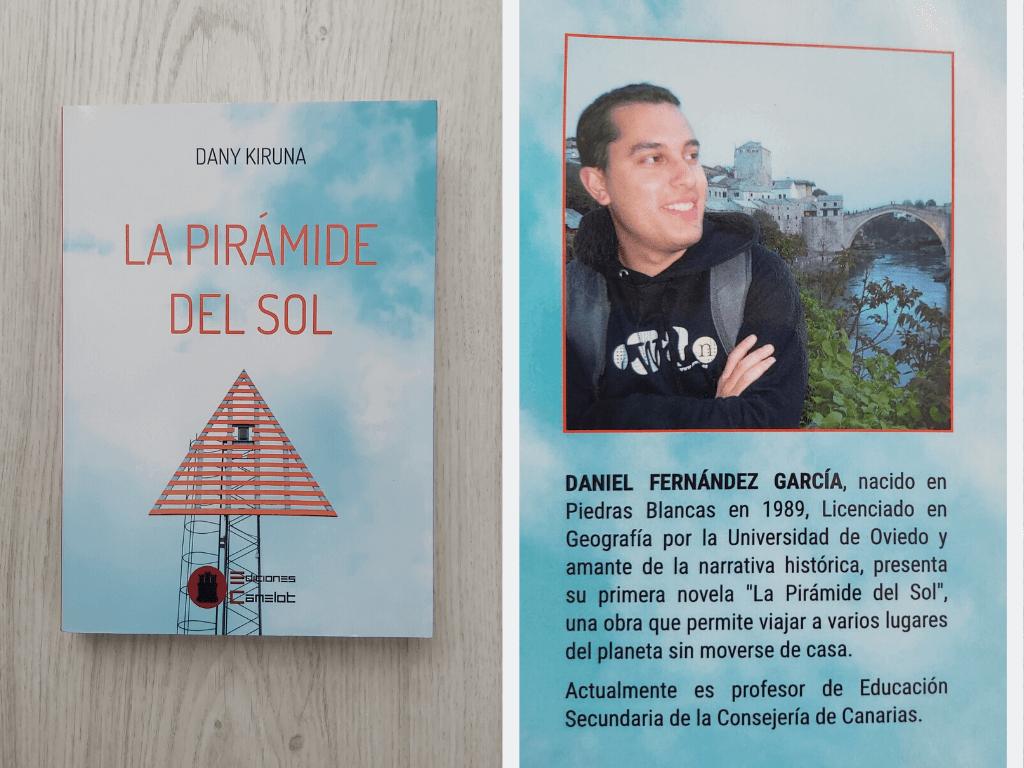 portada del libro La Pirámide del Sol y biografía del autor